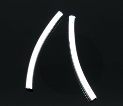 Großverkauf Versilbert Spacer Röhrchen Schmuckröhrchen Metall Tube 2.5x30mm LP