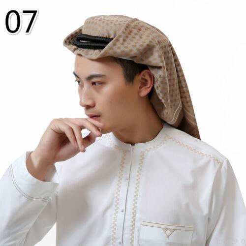 Men Islam Muslim Hijab Turban Arab Headwrap Scarf Shawl Cap Headwear Classic Hat
