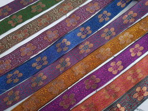 1x Yard Beautiful embroidered pattern lace trimming ribbon Net Wedding dress