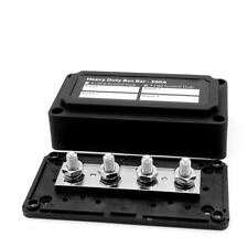 1SET Heavy Duty 4 Way Bus Bar/Power Distribution Box With Screw On Cover 300A UK