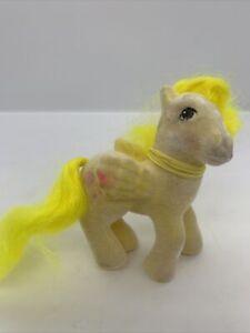 VTG My Little Pony G1 So Soft Lofty Flocked Yellow Hot Air Balloon Pegasus 1986