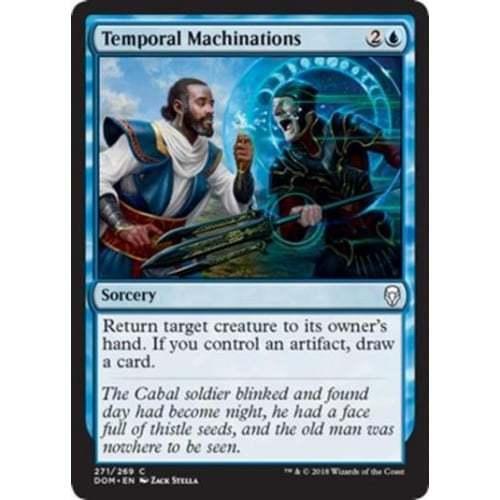 MTG Dominaria Temporal Machinations Planeswalker Deck Card
