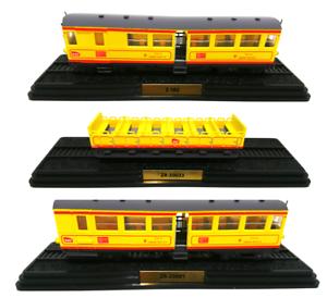 Satz von 3 Triebwagen Train Jaune Ho 1:87 Lokomotive SNCF französisch model bahn