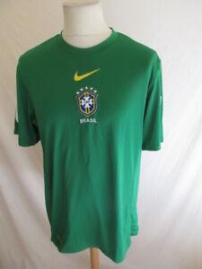 Détails sur Maillot de football équipe du Brésil Nike Vert Taille L à 50%