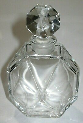 """4"""" Height Products Hot Sale Vintage Ciro Reflections Baccarat Glass Perfume Bottle Empty"""