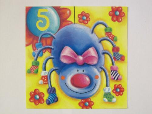 Hallmark fantastique coloré spider /& fleurs 5 today 5TH anniversaire carte de vœux