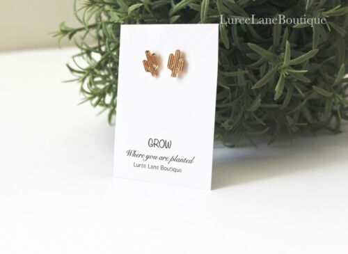 CACTUS stud earrings inspirational gift