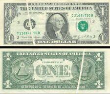 Paper Money Error - $1 Gutter Fold