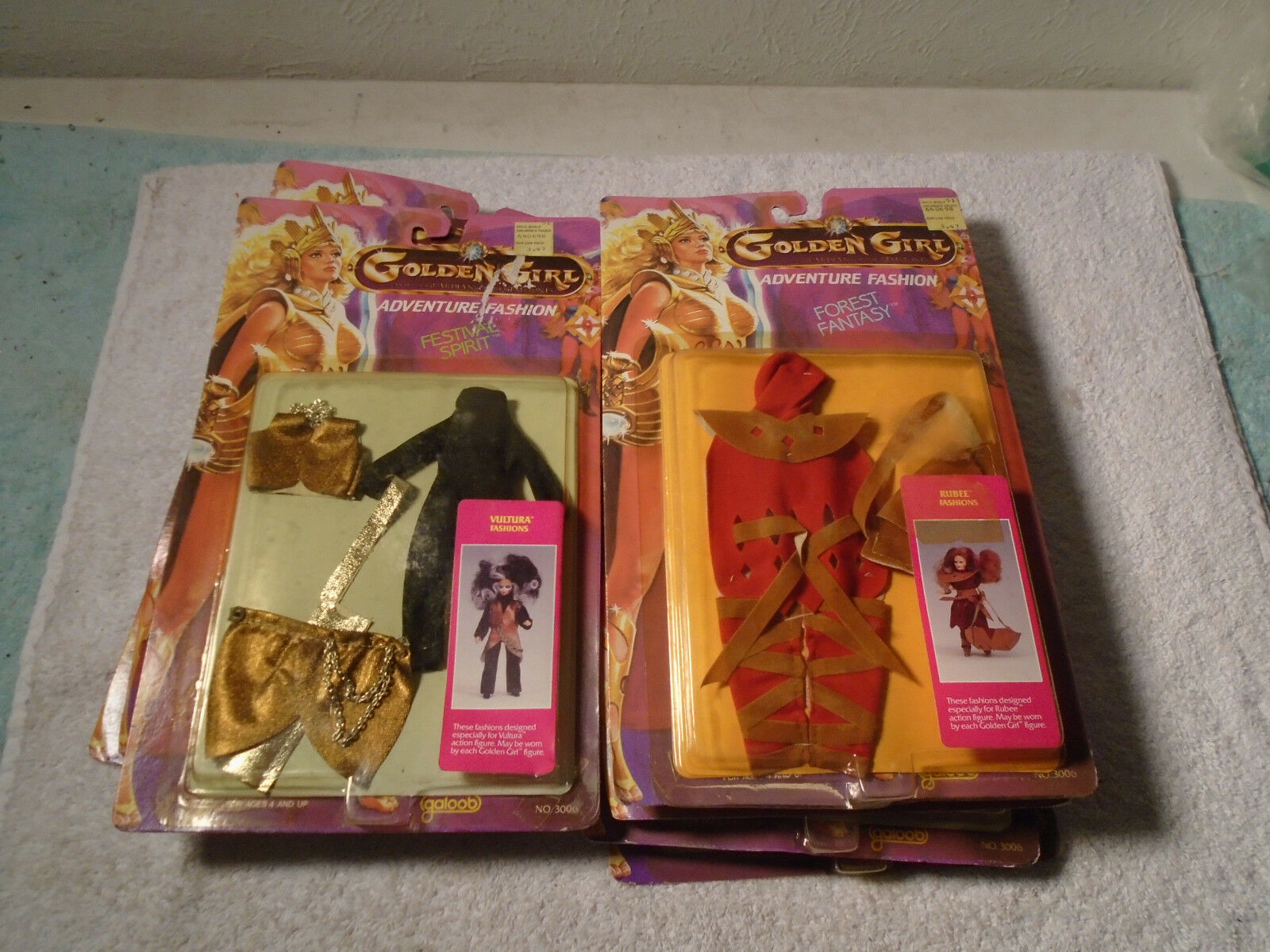 7 VINTAGE 1984 GALOOB goldEN GIRLS ACTION FIGURE ADVENTURE FASHION OUTFIT CLOTHS