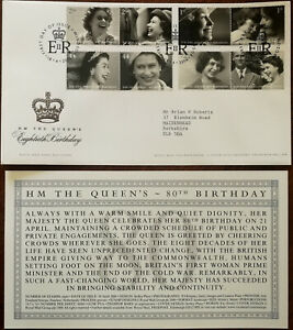 H-M-The-Queen-s-Eightieth-Birthday-Royal-Mail-First-Day-Cover-Insert-2006