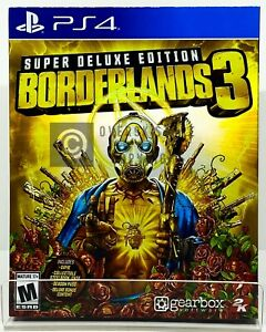 Borderlands 3 SUPER Deluxe Edition - PS4 - Brand New   Factory Sealed