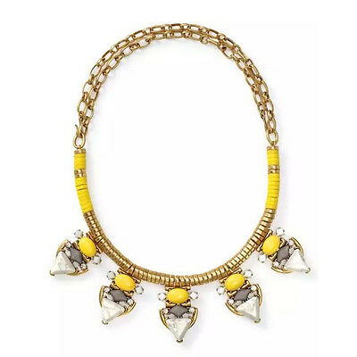 Pavilion Necklace Pop Of Yellow Statement Gold Castings Pearl Howlite Designer