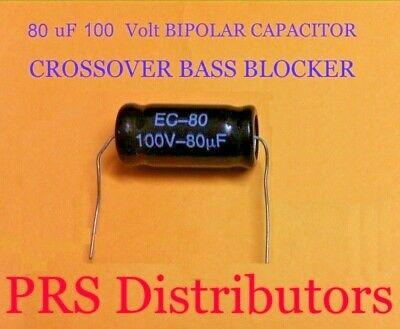 BIPOLAR Capacitor 22 uF 100V BASS BLOCKER SPEAKER TWEETER CROSSOVER One Piece