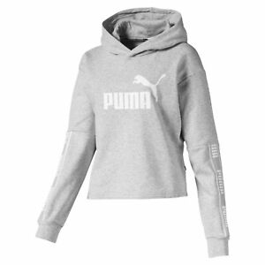 PUMA-Amplified-Women-039-s-Cropped-Hoodie-Women-Sweat-Basics