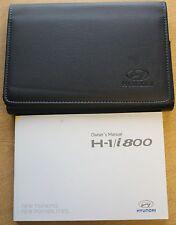 GENUINE HYUNDAI H-1 i800  VAN OWNERS MANUAL HANDBOOK WALLET 2008-2017 PACK
