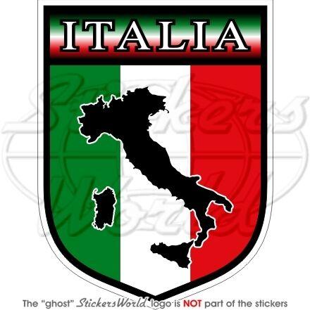 ITALIA Scudo ITALIANO Italiana Adesivo in Vinile Decalcomanie Sticker 100mm