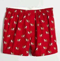 J Crew English Bulldog Boxers Boxer Underwear Medium Large Or Xl