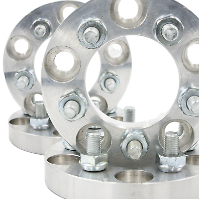 """5x110 to 5x120 US Made Wheel Adapters 1/"""" Thick 12x1.5 Lug Studs Billet x 2 Rims"""