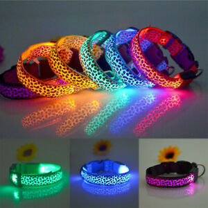 Cat-Puppy-Dog-LED-Light-Cute-Leopard-Pet-Flashing-Collar-Night-Safety-Collars