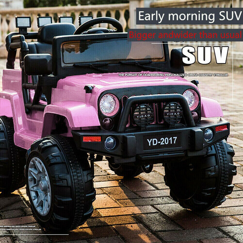 3 Speed 12V Kid Kid Kid Ride On Electric Remote Control Car Jeep Indoor outdoor Toy Pink 54cf20