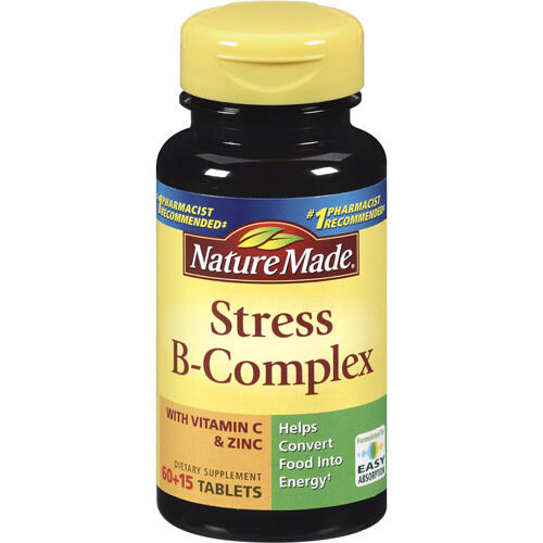 Nature Made Stress B Complex With Zinc Tablets 75 Count Ebay