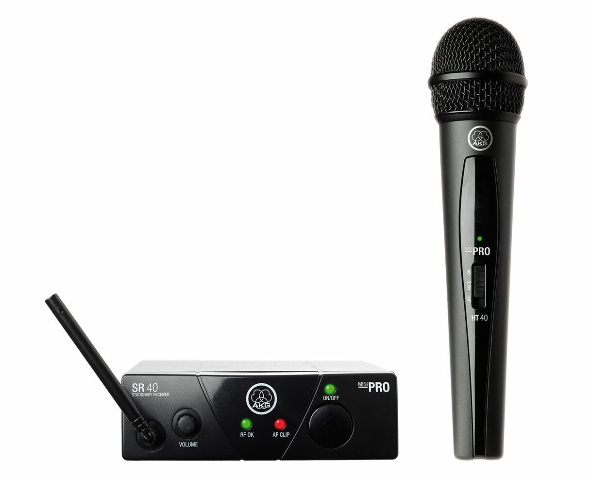 AKG WMS40 Mini Vocal Set (US25A) Single Wireless Handheld Microphone System