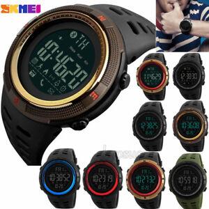 Waterproof-SKMEI-Luxury-Men-039-s-Smart-Watch-Bluetooth-Digital-Sports-Wrist-Watch