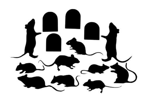 Mäuse **Aufkleber**Bad**Wand**Fenster**Innen+Außen**Sticker   **Nr. 27