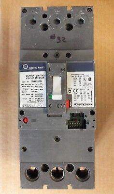 GE SFHA SFHA36AT0250 3 Pole 600V 250 Amp Circuit Breaker NO RATING PLUG FLAWED