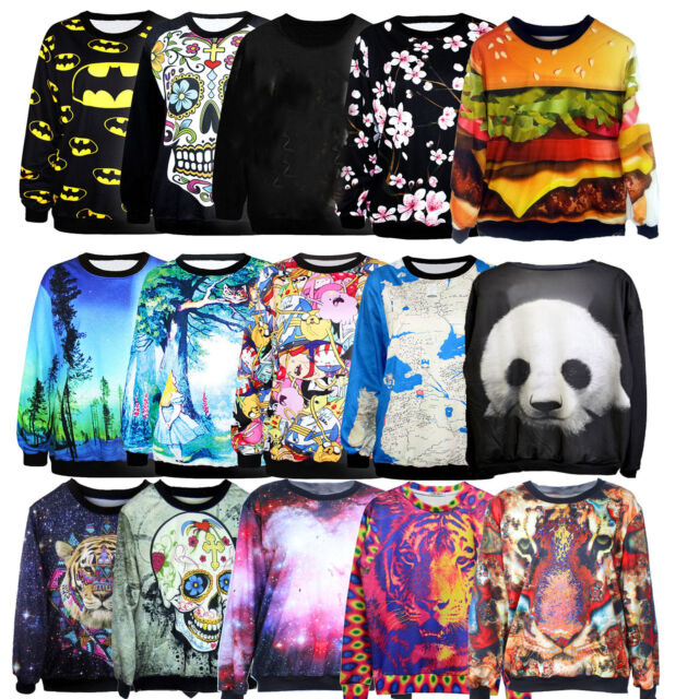 Women & Men 3D T-shirt Sweater Sweatshirt Hoodie Pullover Tops Tracksuit Jumpers