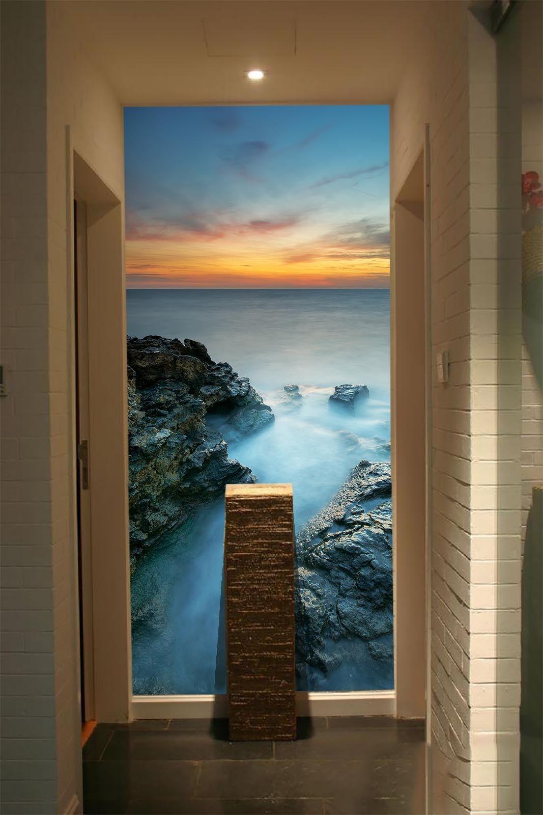 3D Sunset Stone Sea 7  Wall Paper Murals Wall Print Wall Wallpaper Mural AU Kyra