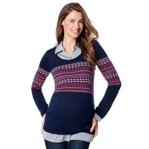 By Motherhood Mock-layers Maternity light Sweater varies