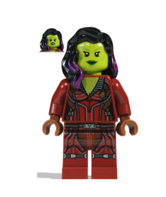 Lego Gamora 76021 Dark Red Suit Super Heroes Guardians of the Galaxy Minifigure