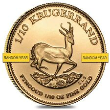1/10 oz South African Krugerrand Gold Coin (Random Year)