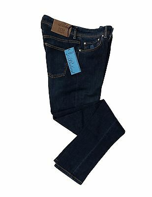 NWT $395 Belvest Premium Denim Slim-Fit Jeans 36 (Tagged 37) Made in Italy
