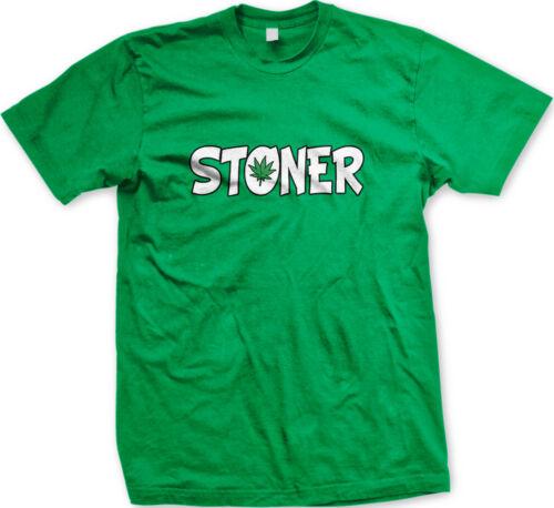 Stoner Pot Leaf Marijuana Weed Stoned Lazy Smoke Up Vape High Dab Men/'s T-Shirt