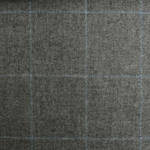100/% British Shetland Wool Fabric Marchrie Window Pane