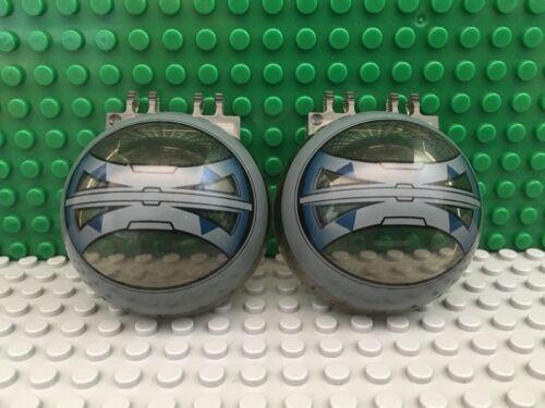 2x Lego Lot Windscreen Canopy Half Sphere Star Wars 8086 Tri-Fighter Spaceship