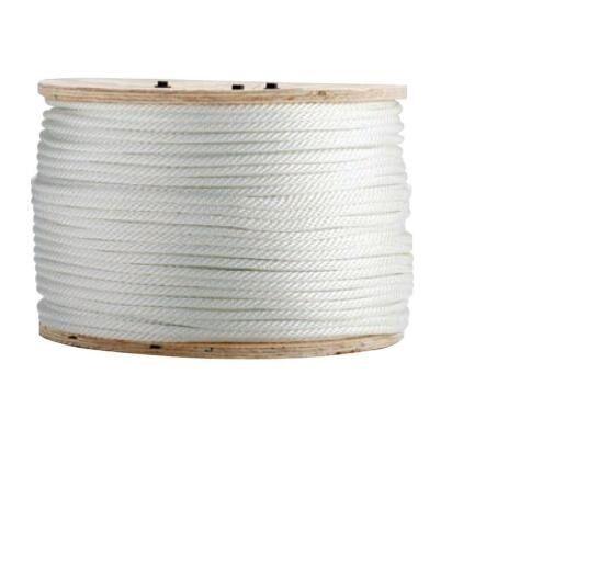 Solid Braid Nylon Rope 1 2  x500' (White color) - 291872
