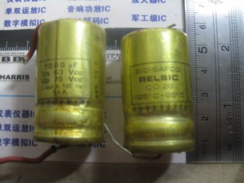 1X 1000uF 63V CO26 SIC-SAFCO AUDIO GRADE ELECTROLYTIC CAPACITOR Axial gold color