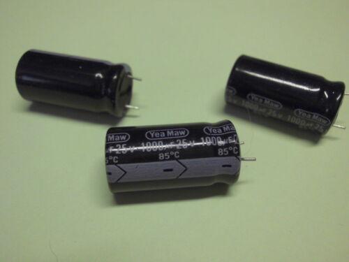1000uf 25v 85 ° C 20 condensadores electrolíticos