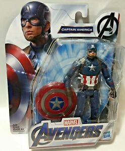 Marvel-AVENGERS-ENDGAME-MCU-CAPTAIN-AMERICA-w-Shield-6in-Figure-Wave-2-IN-STOCK