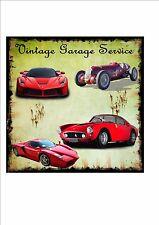 Ferrari Vintage REPRODUCTION Metal Sign Garage Sign Garage Services Metal Plaque