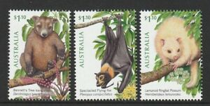 Australia-2020-Tree-dwellers-of-the-Tropics-Set-of-3-Decimal-Stamps-MNH
