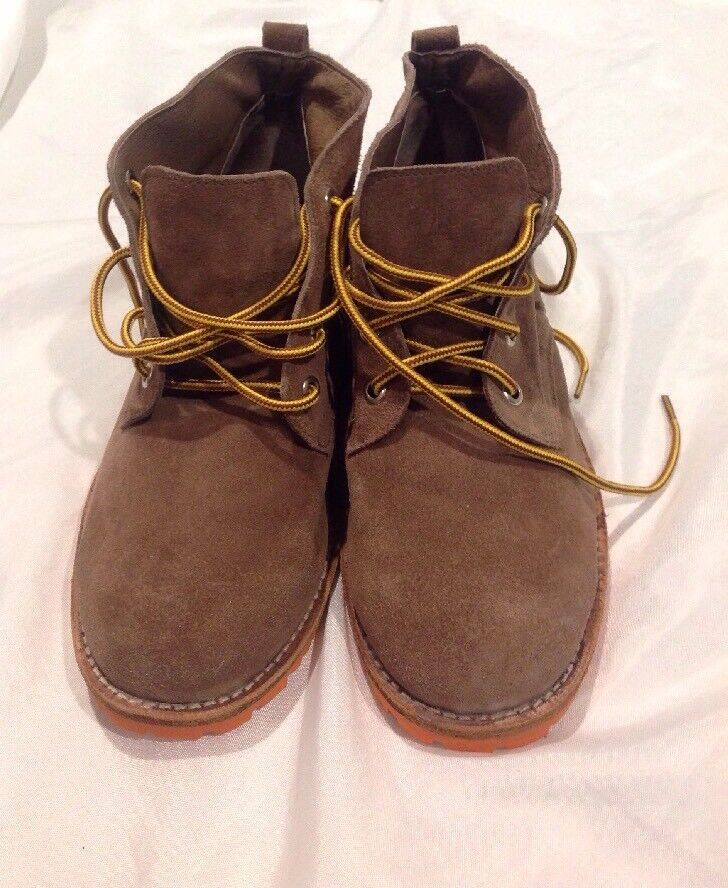 Jeffrey Campbell Women shoes Booties Brown Leather Size 8M Lace Up
