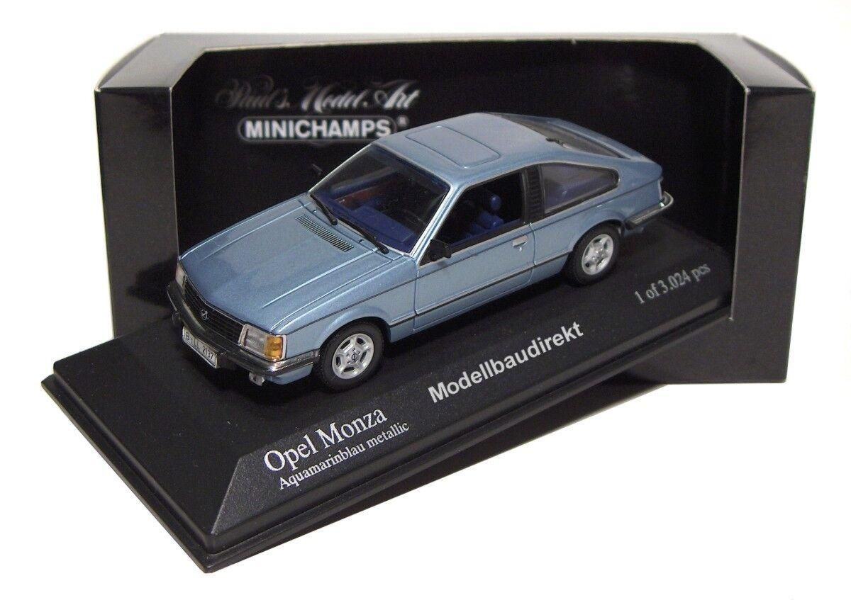 buena calidad Opel Monza Monza Monza en azul metalizado BJ 1980 1 43 Minichamps 400045120 nuevo & OVP  apresurado a ver