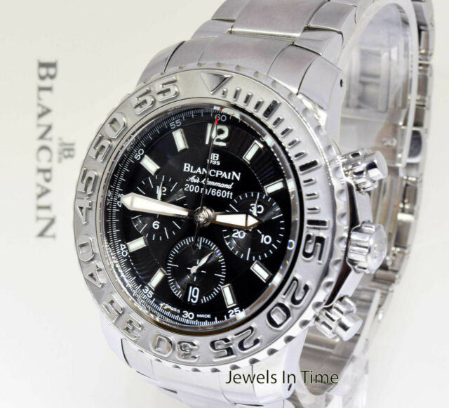 Blancpain Air Command Flyback Chronograph Steel Watch 2285f 1130 71 For Sale Online Ebay