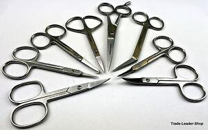 Nagelschere-gebogen-gerade-Nagelhautschere-Schere-scissor-Manikuere-Pedikuere-nail