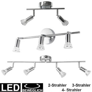 Led Leiste Bad : led spot leiste glas metall strahler k chen decken leuchte schwenkbar bad lampe ebay ~ Watch28wear.com Haus und Dekorationen