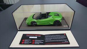 Lamborghini Huracan spyder Verde Mantis MR  1:18 NO BBR  !!